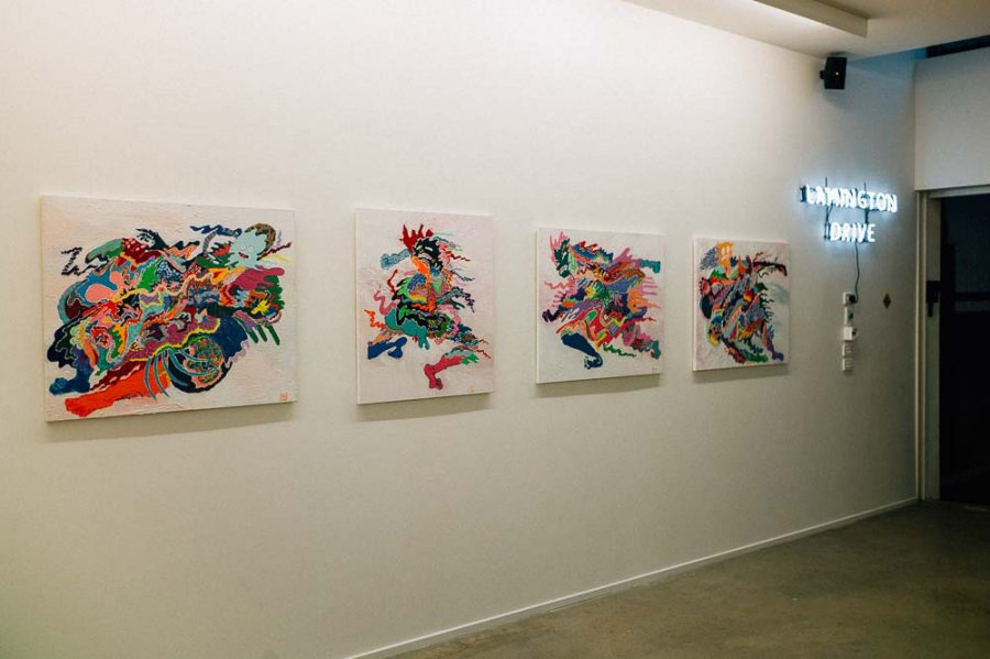 Solo exhibition, 2014.
